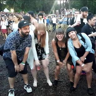 Dancing idiots.