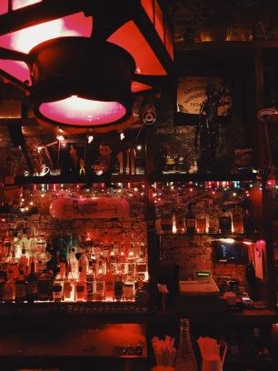 Bar decor at The Woods.