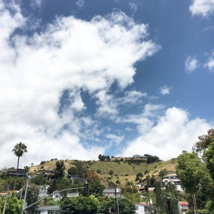 The Hollywood Hills; the view from Hollywood Blvd