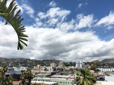 Mama Shelter's view of the Hollywood Hills