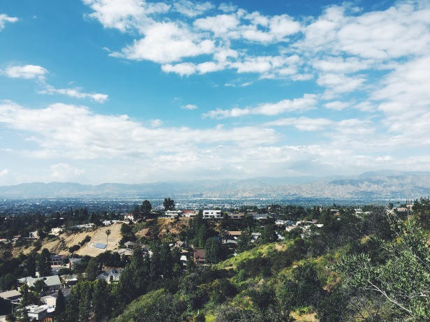 Mulholland Drive secret hike, views of the mountains
